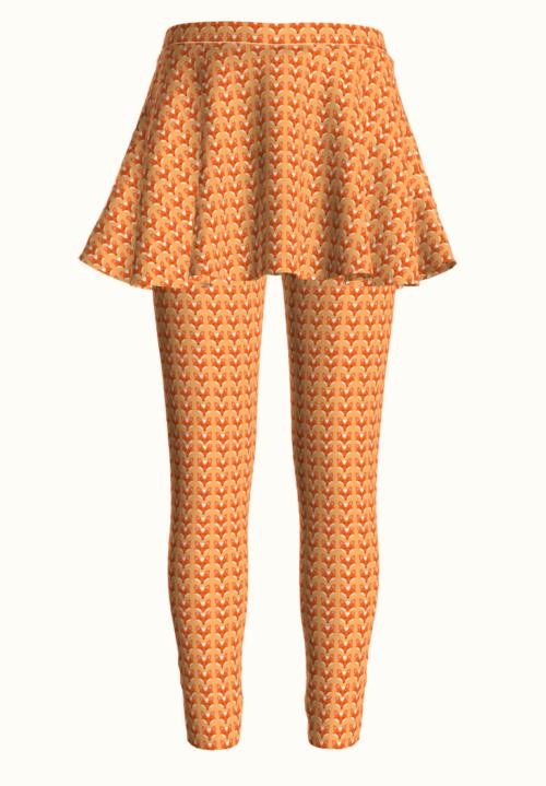 Free PDF sewing pattern: Girl's leggings with skirt