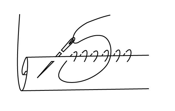 How to hand sew a narrow hem