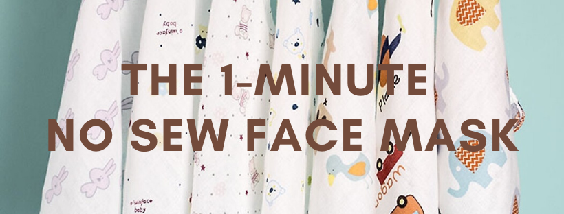 No sew face mask tutorial