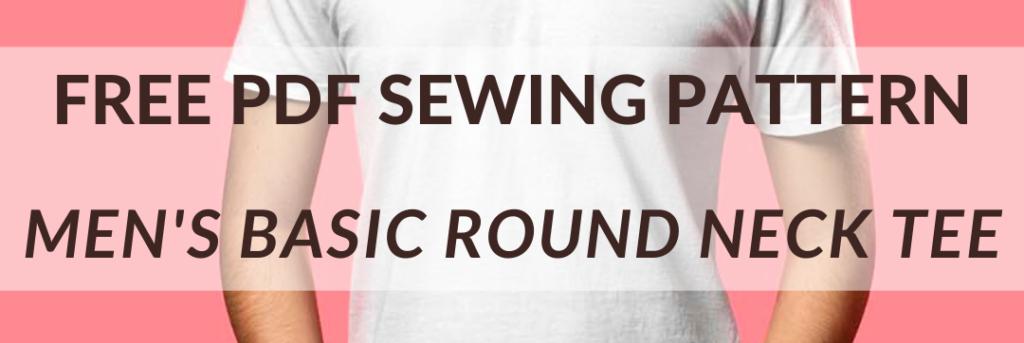 Free PDF sewing pattern: Men's basic round neck tee