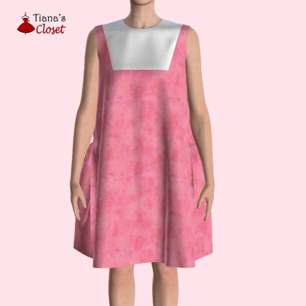 Free sewing pattern: Minju ruffled paneled dress