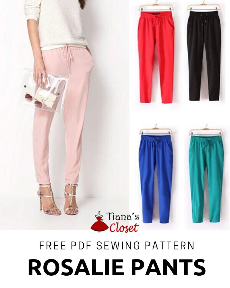 Rosalie elastic waist cropped pants