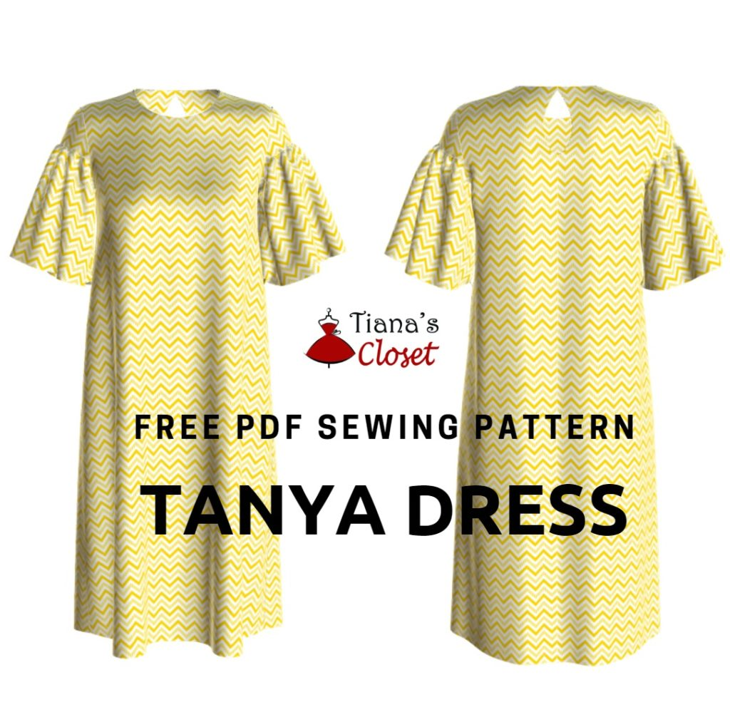 Free PDF sewing pattern: Tanya tunic dress