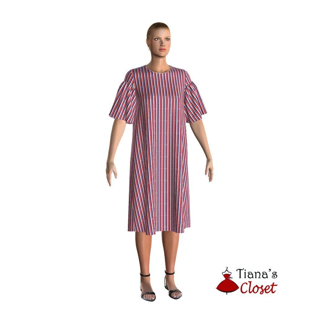Free PDF sewing pattern: Tanya tunic dress