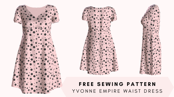 Free sewing pattern: Yvonne empire waist dress