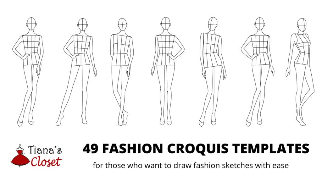 Fashion croquis templates