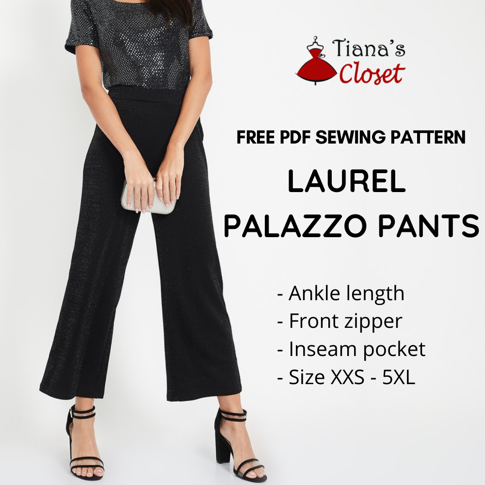 Laurel palazzo pants free pdf sewing pattern