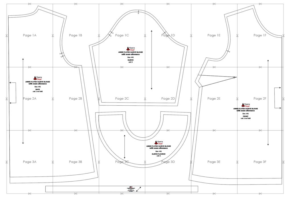 Annie blouse - free PDF sewing pattern