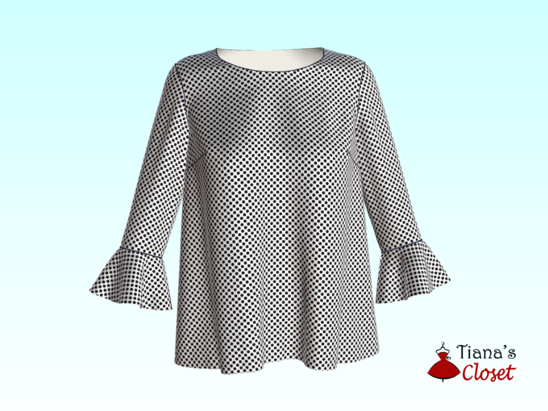 Free sewing pattern: Annie blouse