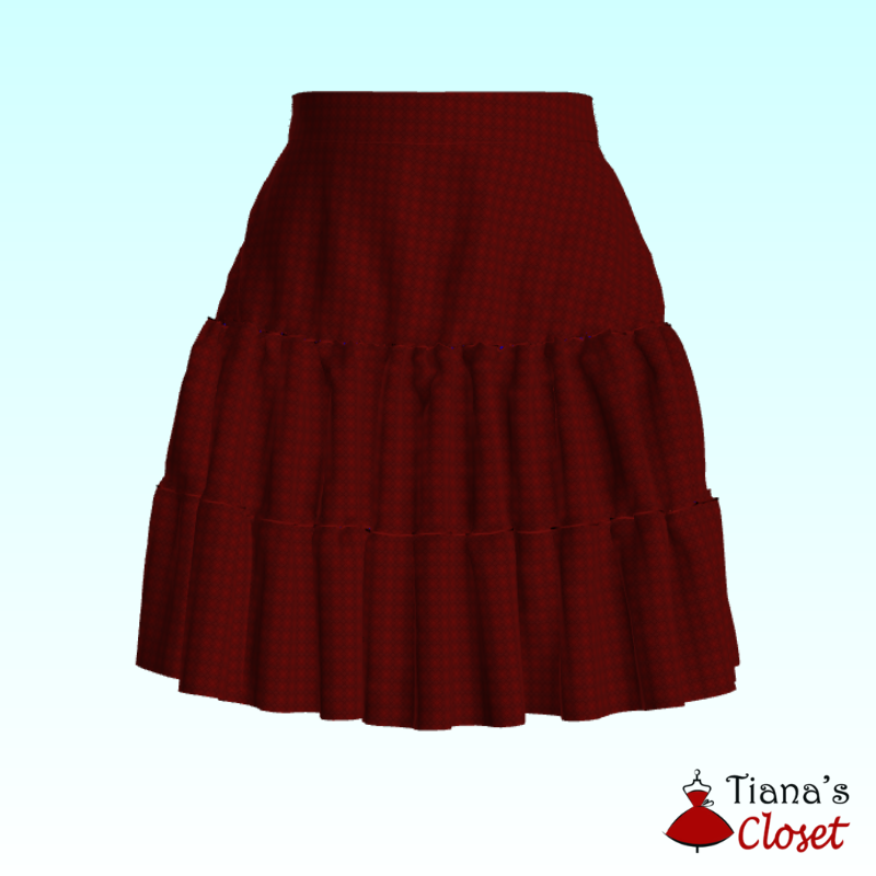 Anita 3 tier flared skirt