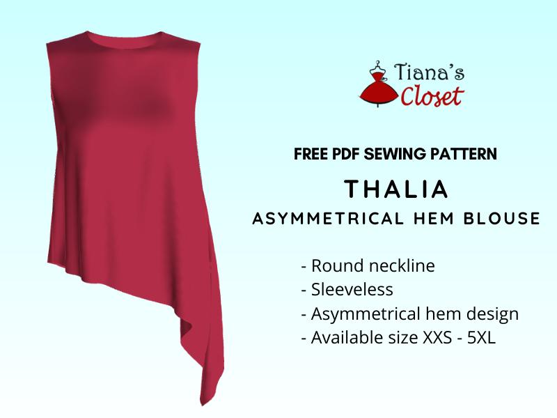 Thalia asymmetrical hem blouse