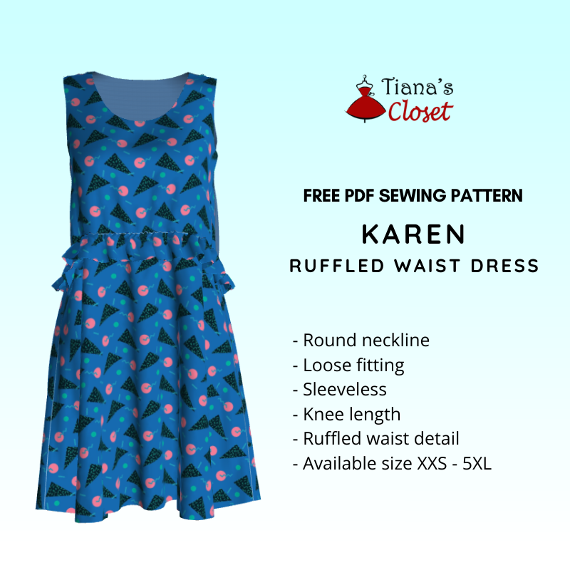 Karen ruffled waist dress (7)