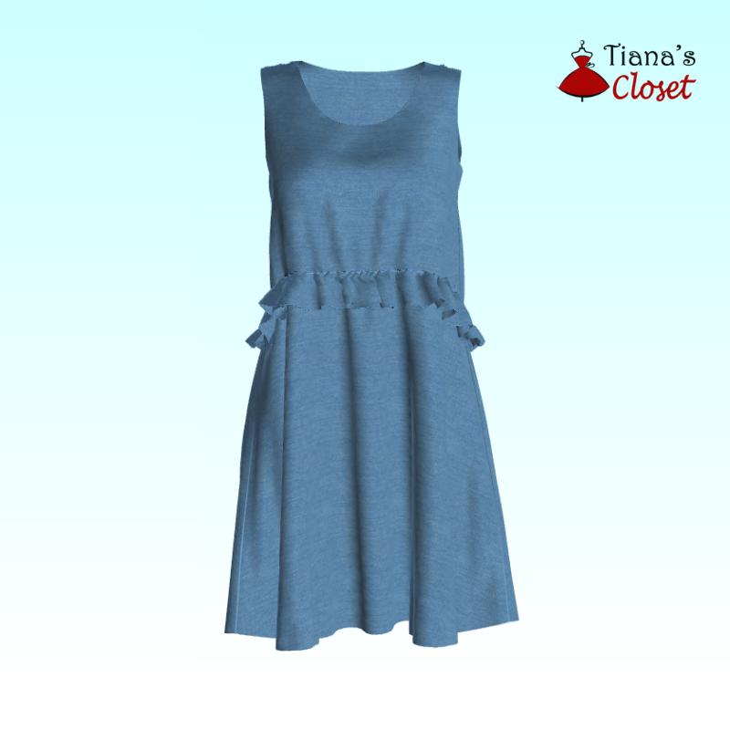 Karen ruffled waist dress (7)