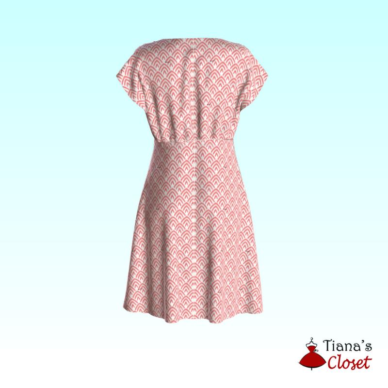 Tammie V neck empire waist dress (5)