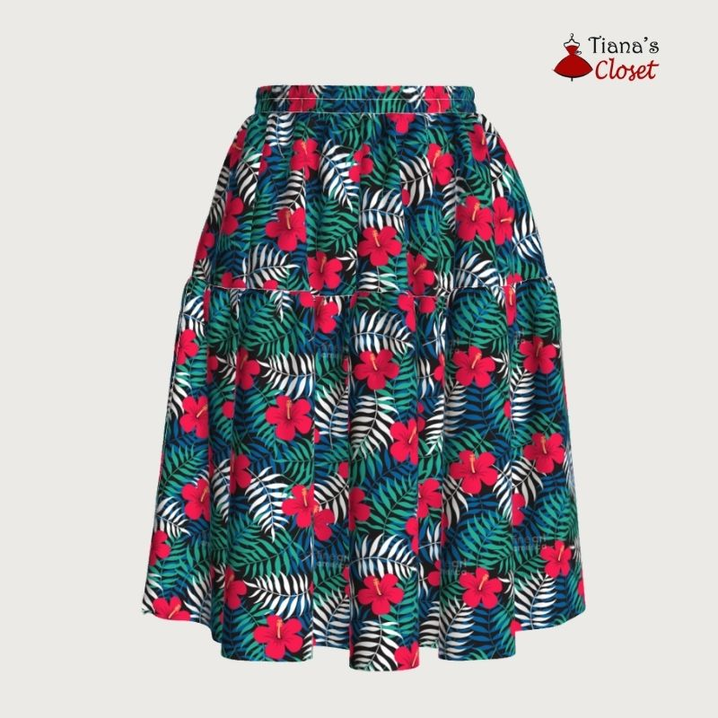 Kathryn elastic waist tiered skirt - free sewing pattern