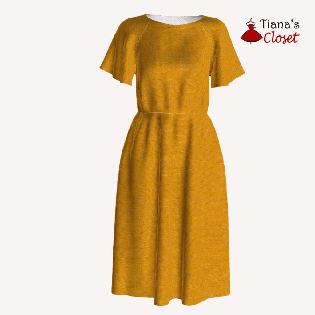 Natalie flutter sleeve dress (XXS-5XL)