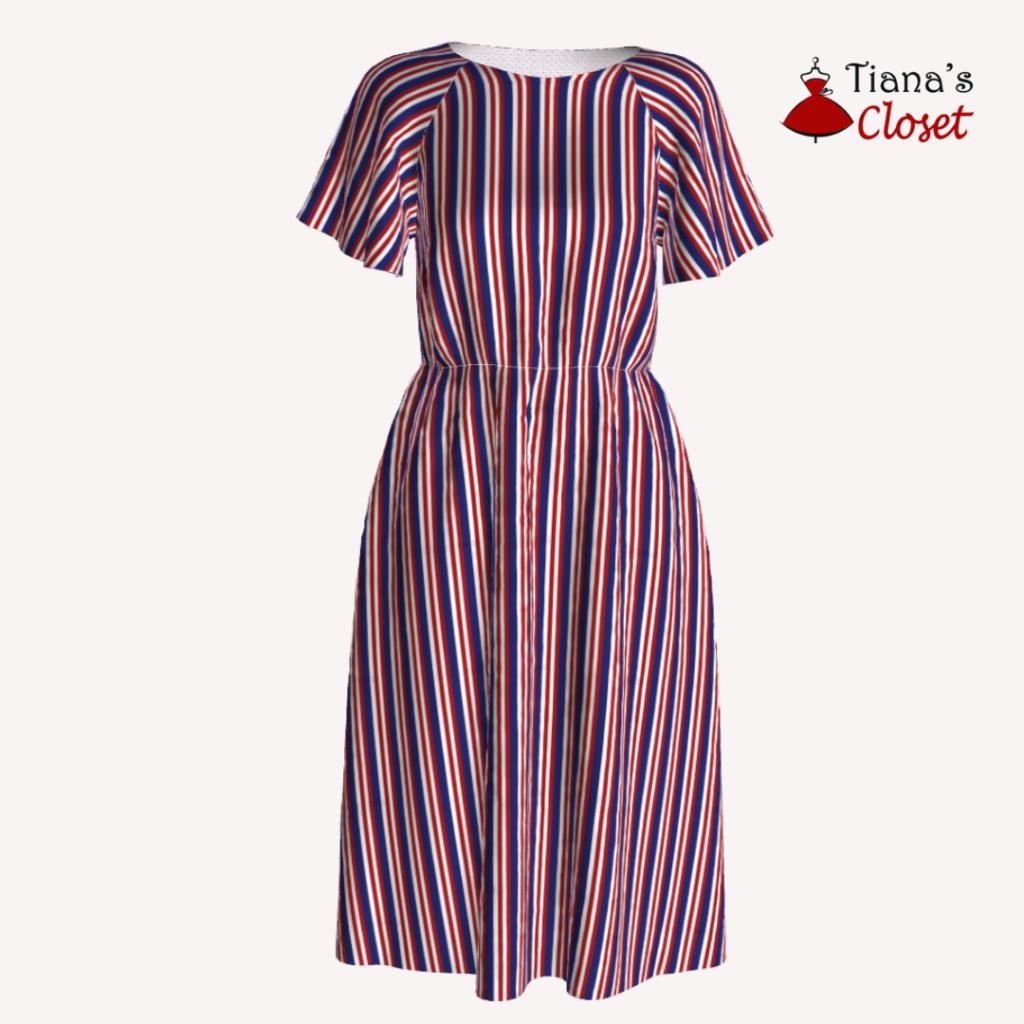Natalie flutter sleeve dress (XXS-5XL) (10)