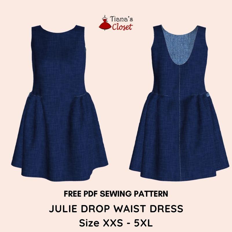 Julie drop waist dress