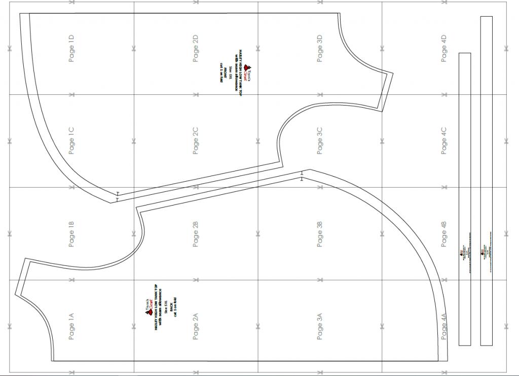 Hailey high low tank top free pdf sewing pattern