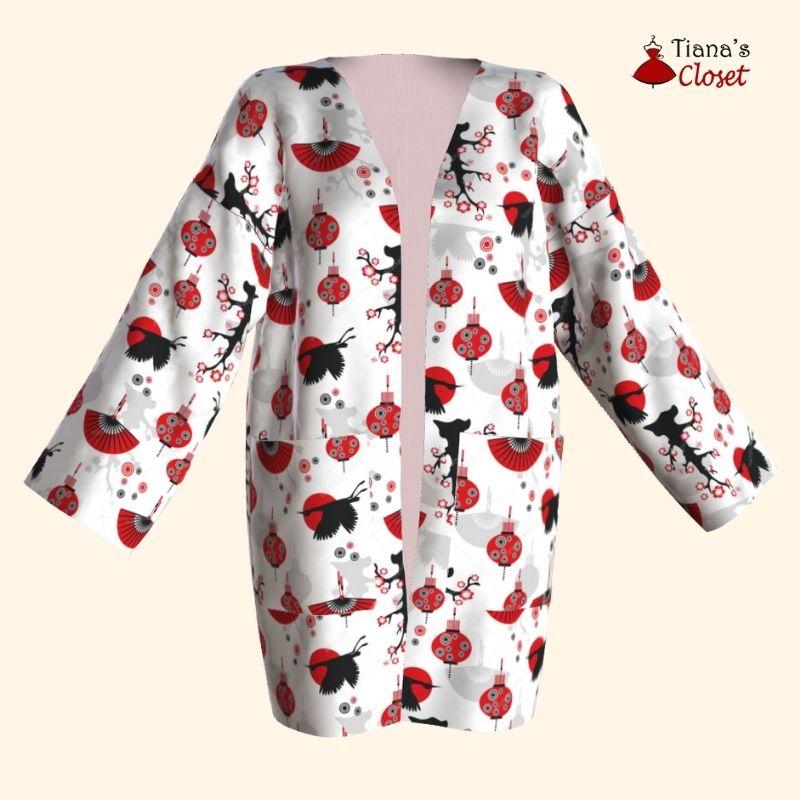 Kyoko haori jacket free sewing pattern